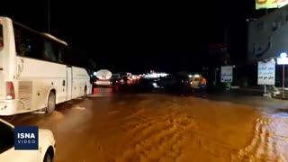 آخرین وضعیت جاده قم – اراک، بعد از سیلاب دیروز