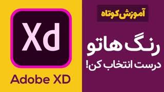 آموزش کاربردی Adobe XD: اهمیت انتخاب رنگ در طراحی رابط کاربری وبسایت و اپلیکیشن
