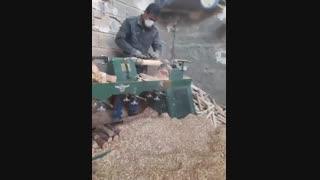 خراطی پایه مبل مکانیزم با چوب کاج