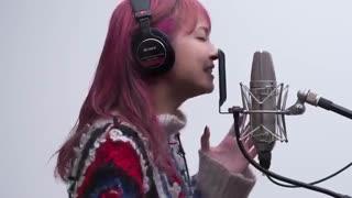 لحظه ضبط صدا آهنگ اندینگ هنر شمشیر زنی آنلاین (نیمه دوم فصل ۳) _لیسا