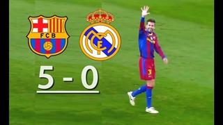 الکلاسیکوی خاطره انگیز و تماشایی; برد 5 بر 0 بارسلونا مقابل رئال مادرید