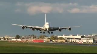 لندینگ ایرباس a380 بزرگترین هواپیمای مسافربری جهان