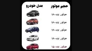 با 180 تا 250 میلیون تومن چه ماشینی میشه خرید؟