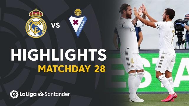 خلاصه بازی رئال مادرید 3 - ایبار 1 از هفته 28 لالیگا اسپانیا