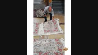 تا کردن اصولی فرش ، بدون خط افتادن رو فرش - فرش لطفی