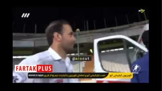 بلایی که مسعود شجاعی بر سر آمبولانس استادیوم آزادی آورد!