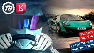 بهترین Stig Laps با فراری 488 Pista، پورشه تایکان و تویوتا سوپرا در Top Gear