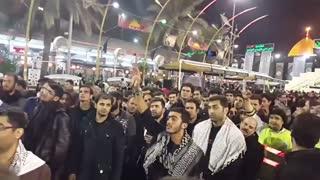 مداحی شهید مدافع امنیت امیرحسین محمد علیخانی در بین الحرمین