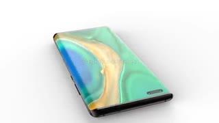 رندر اسمارتفون جدید هواوی میت 40 پرو (Huawei Mate 40 Pro)