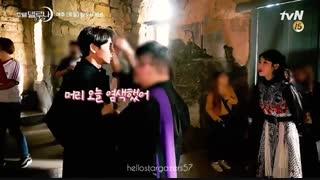 آیو و لی جونگی در پشت صحنه سریال کره ای هتل دل لونا Hotel del Luna
