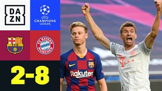 خلاصه بازی بارسلونا 2 - بایرن مونیخ 8 از مرحله یک چهارم نهایی لیگ قهرمانان اروپا